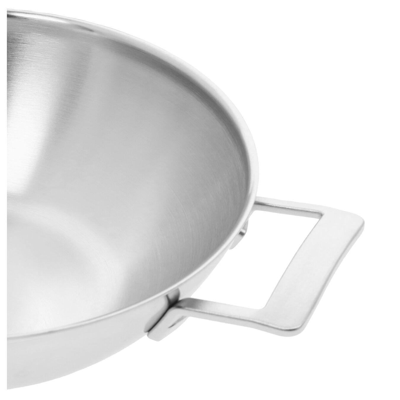 Wok met 2 handgrepen Zilver 30 cm,,large 4