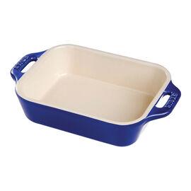 Staub Ceramics, 9.5-inch, rectangular, Special shape bakeware, dark blue
