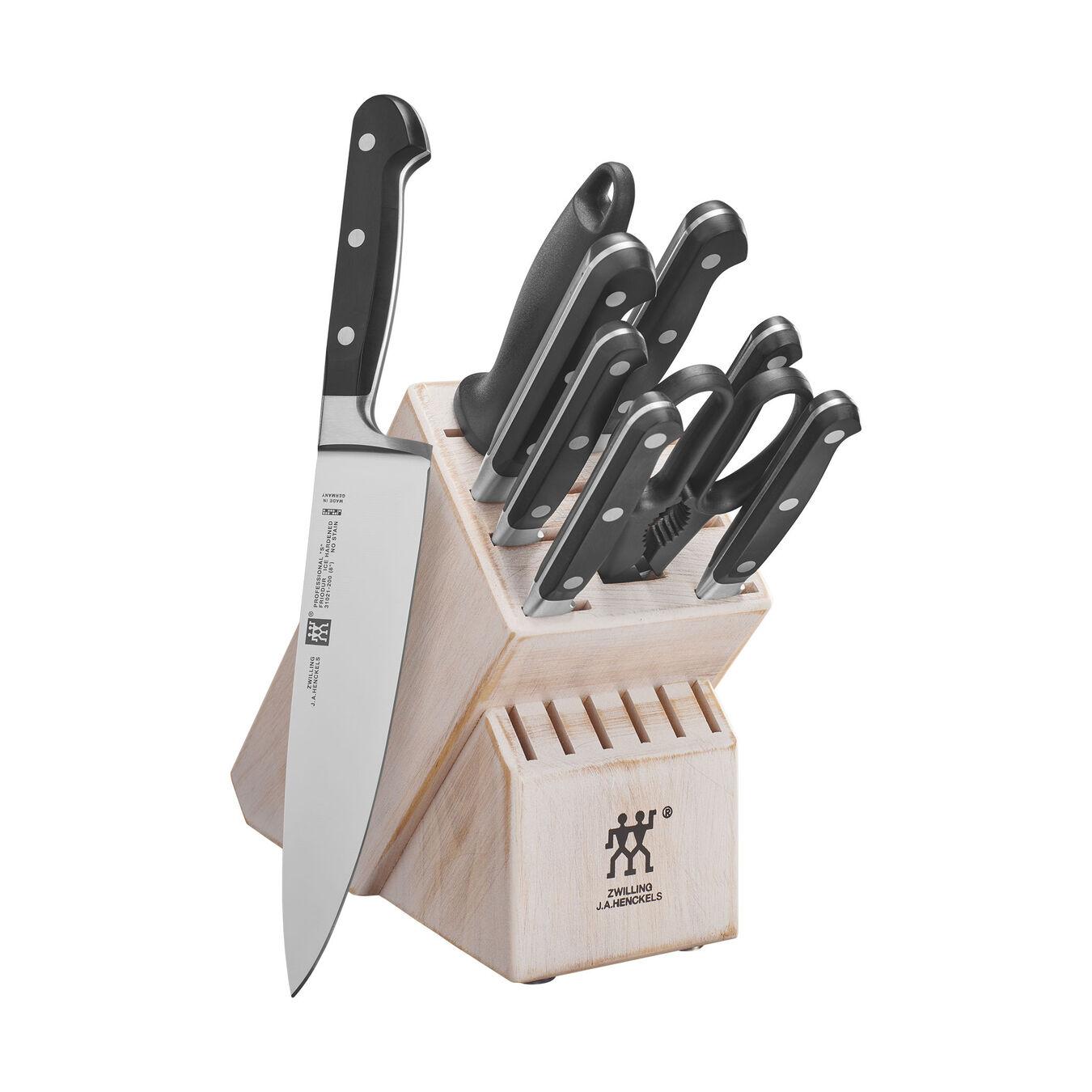 16-pc, Knife block set, Rustic White,,large 1
