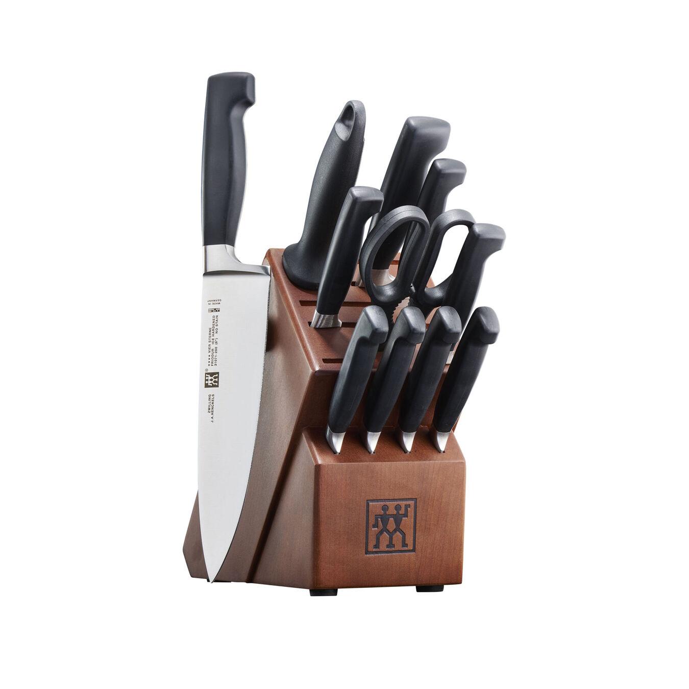 12-pc, Knife block set, walnut,,large 1