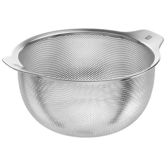 Süzgeç, 24 cm | Yuvarlak | Metalik Gri | 18/10 Paslanmaz Çelik,,large
