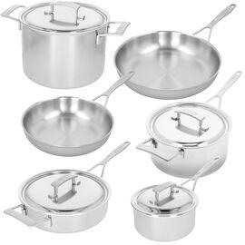 Demeyere Industry 5, 10 Piece 18/10 Stainless Steel Cookware set