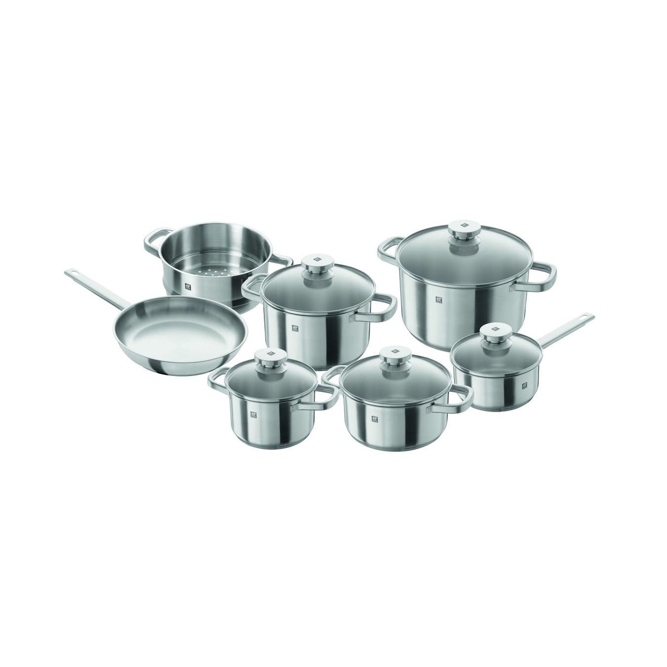 12-pcs 18/10 Stainless Steel Ensemble de casseroles et poêles,,large 1