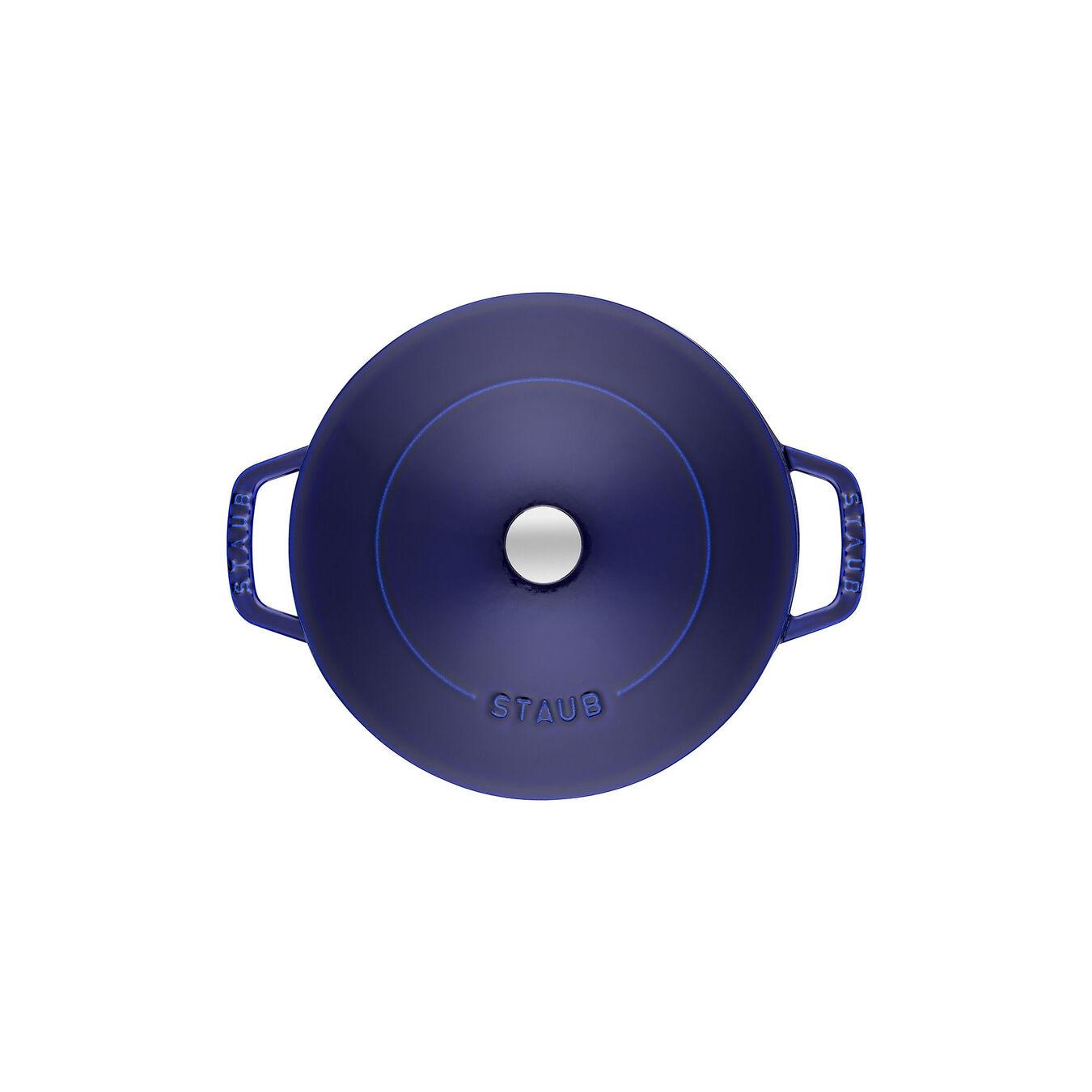 Tegame Chistera rotondo - 28 cm, blu scuro,,large 5
