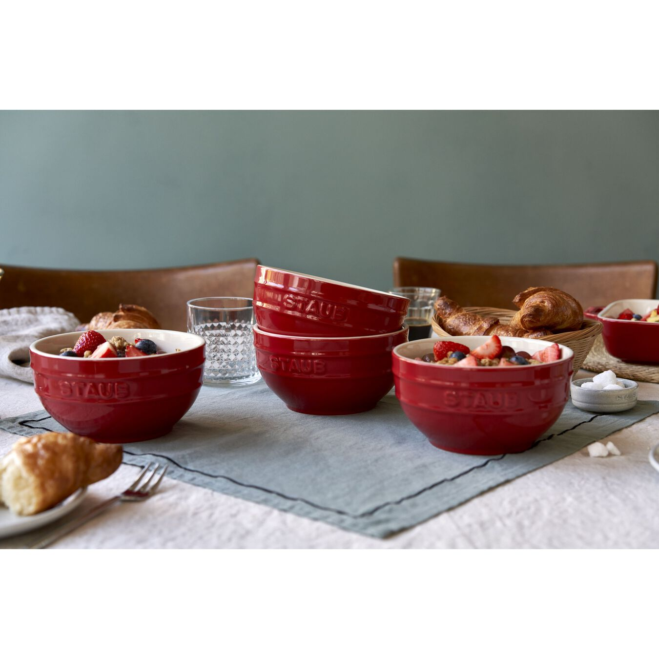 2-pc, Bowl set, cherry,,large 4