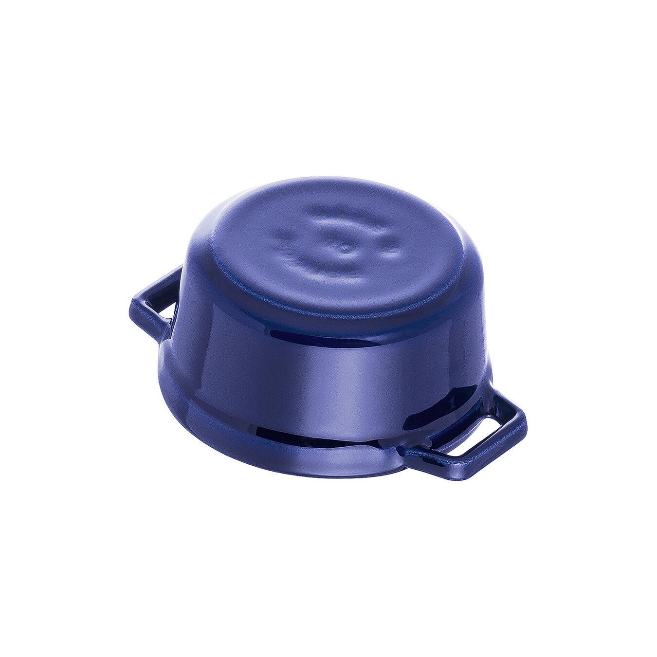 Mini cocotte rotonda - 10 cm, blu scuro,,large 3