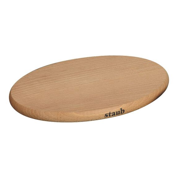 6-inch Oval Magnetic Wood Trivet,,large