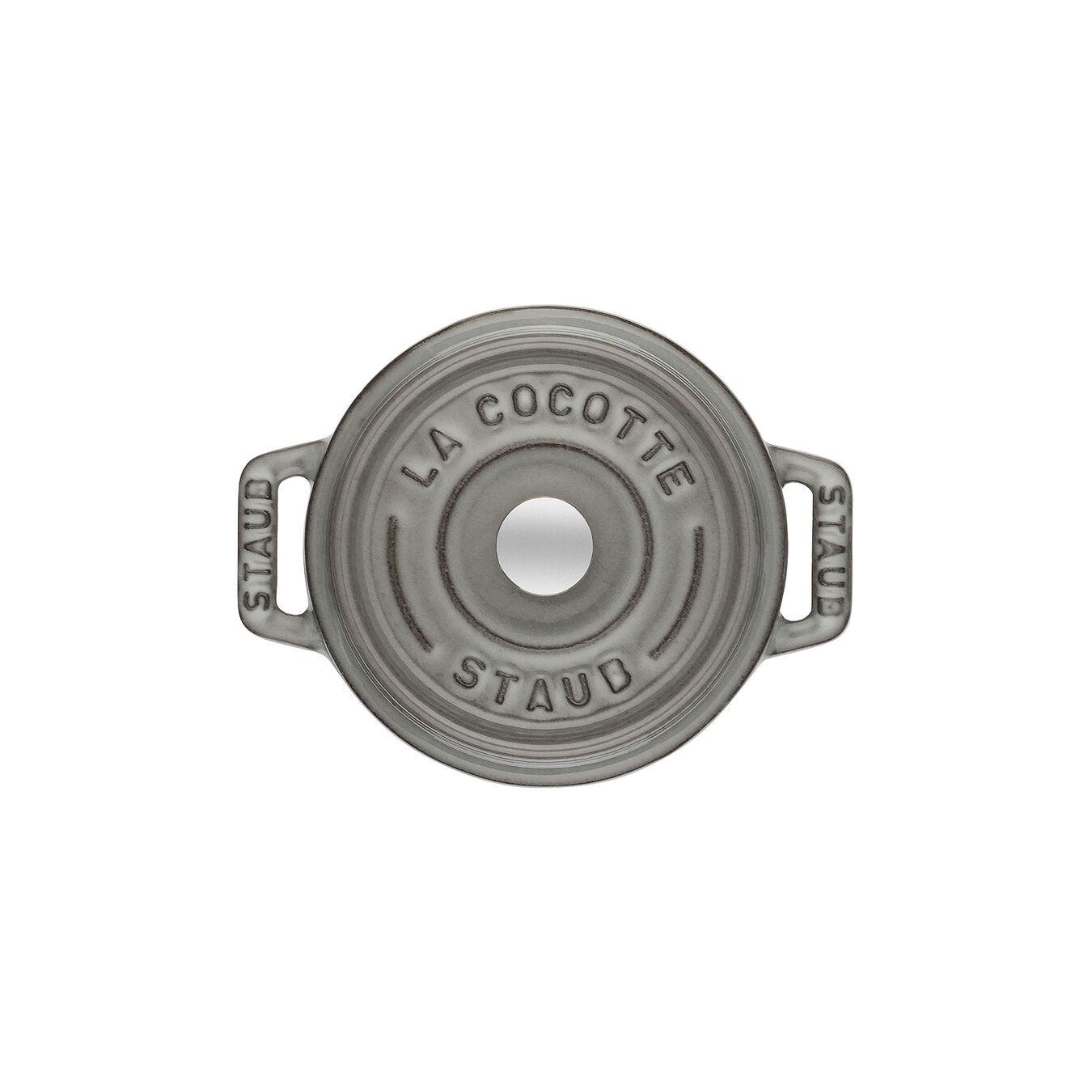 Mini cocotte rotonda - 10 cm, grigio grafite,,large 2