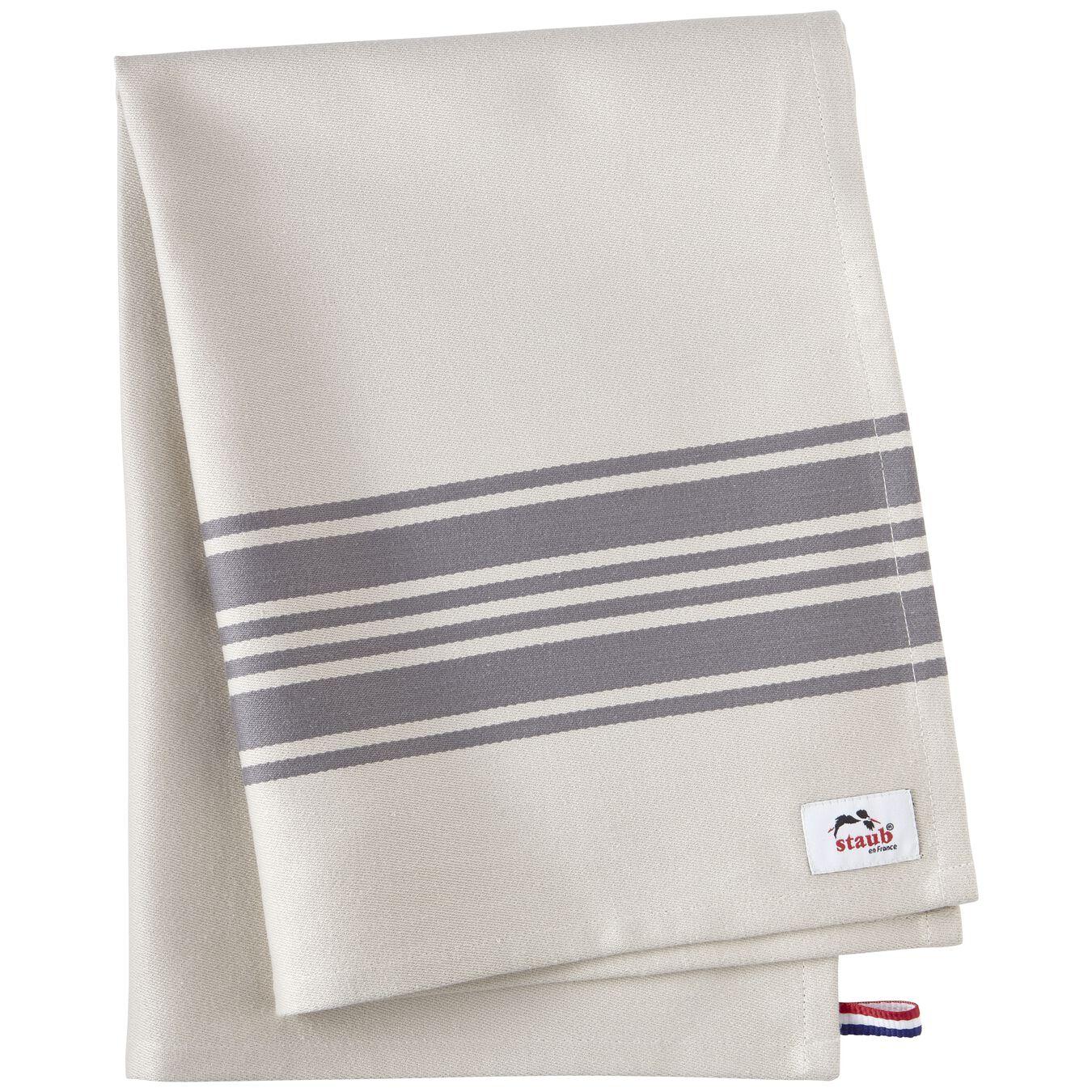 70 cm x 50 cm Cotton Kitchen towel, Grey,,large 7
