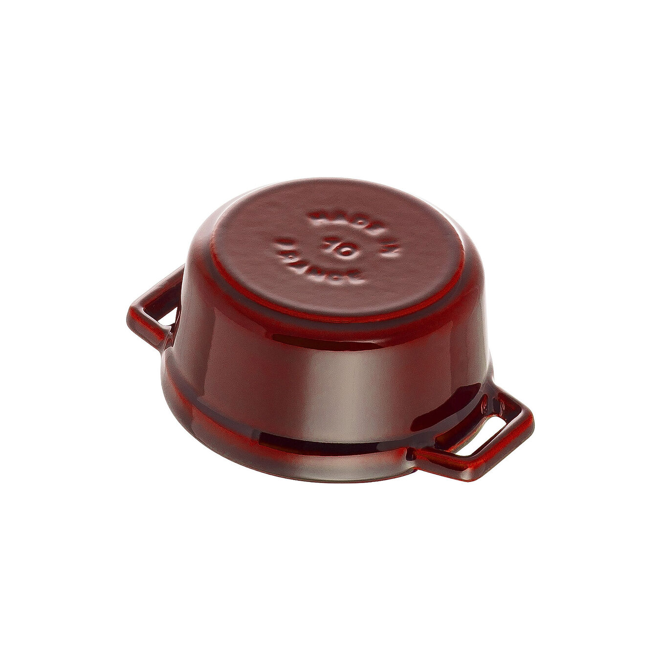 250 ml Cast iron round Mini Cocotte, Grenadine-Red,,large 4