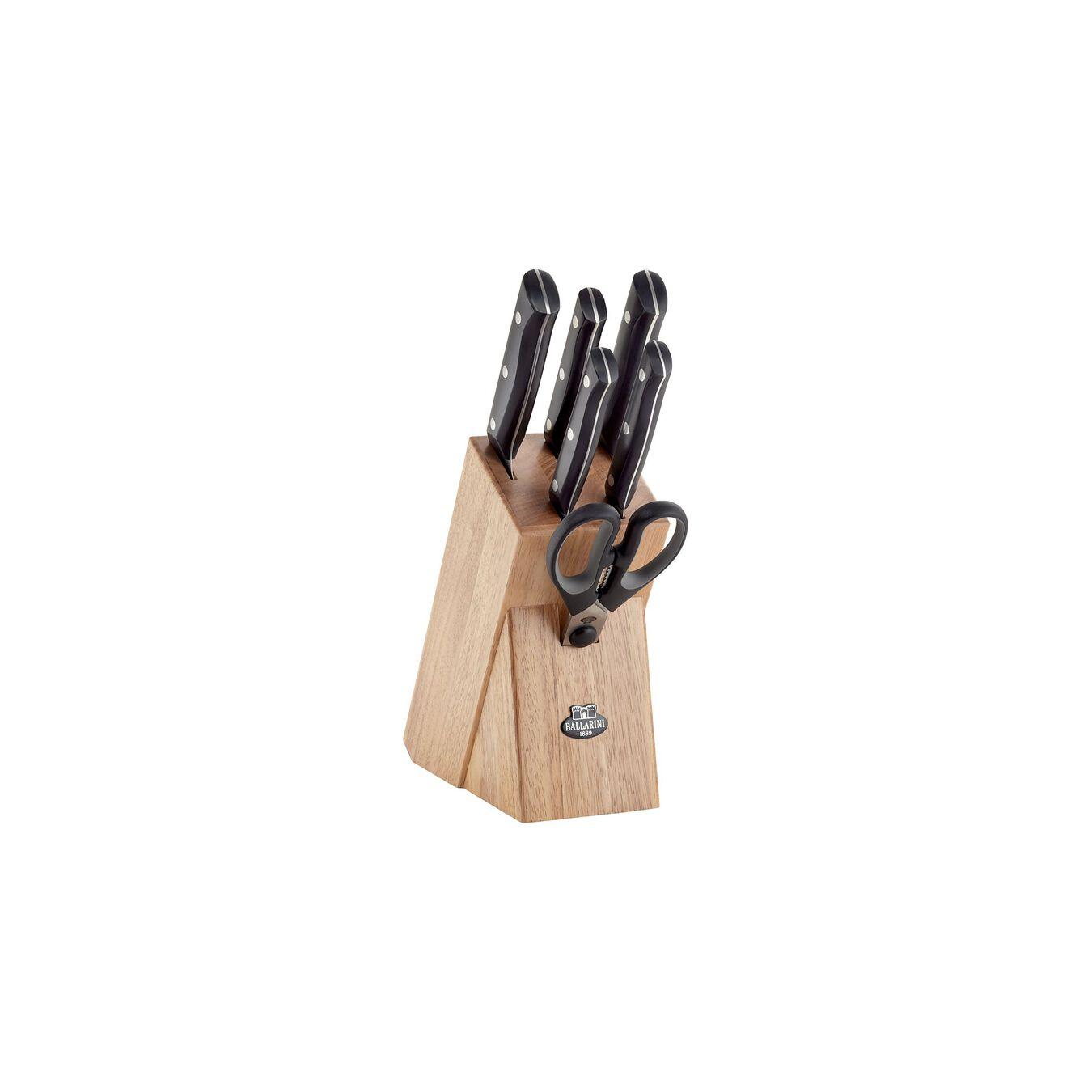 Bloc de couteaux 7-pcs, Bois d'hévéa,,large 8