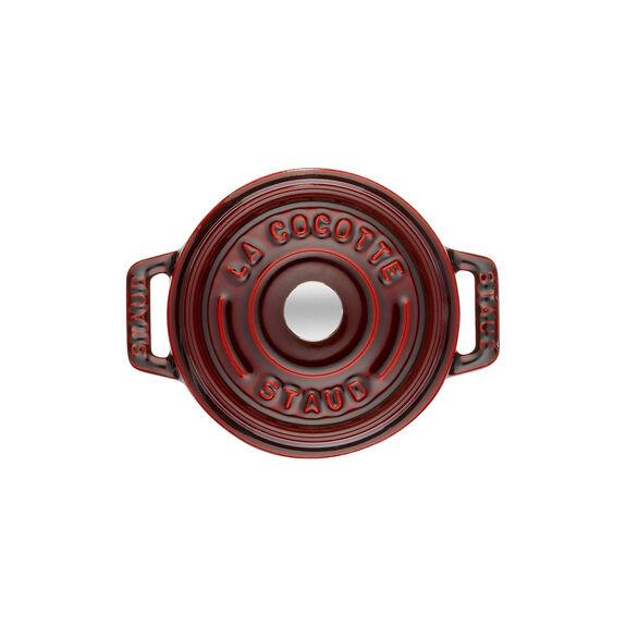 0.25-qt Mini Round Cocotte - Grenadine,,large 4