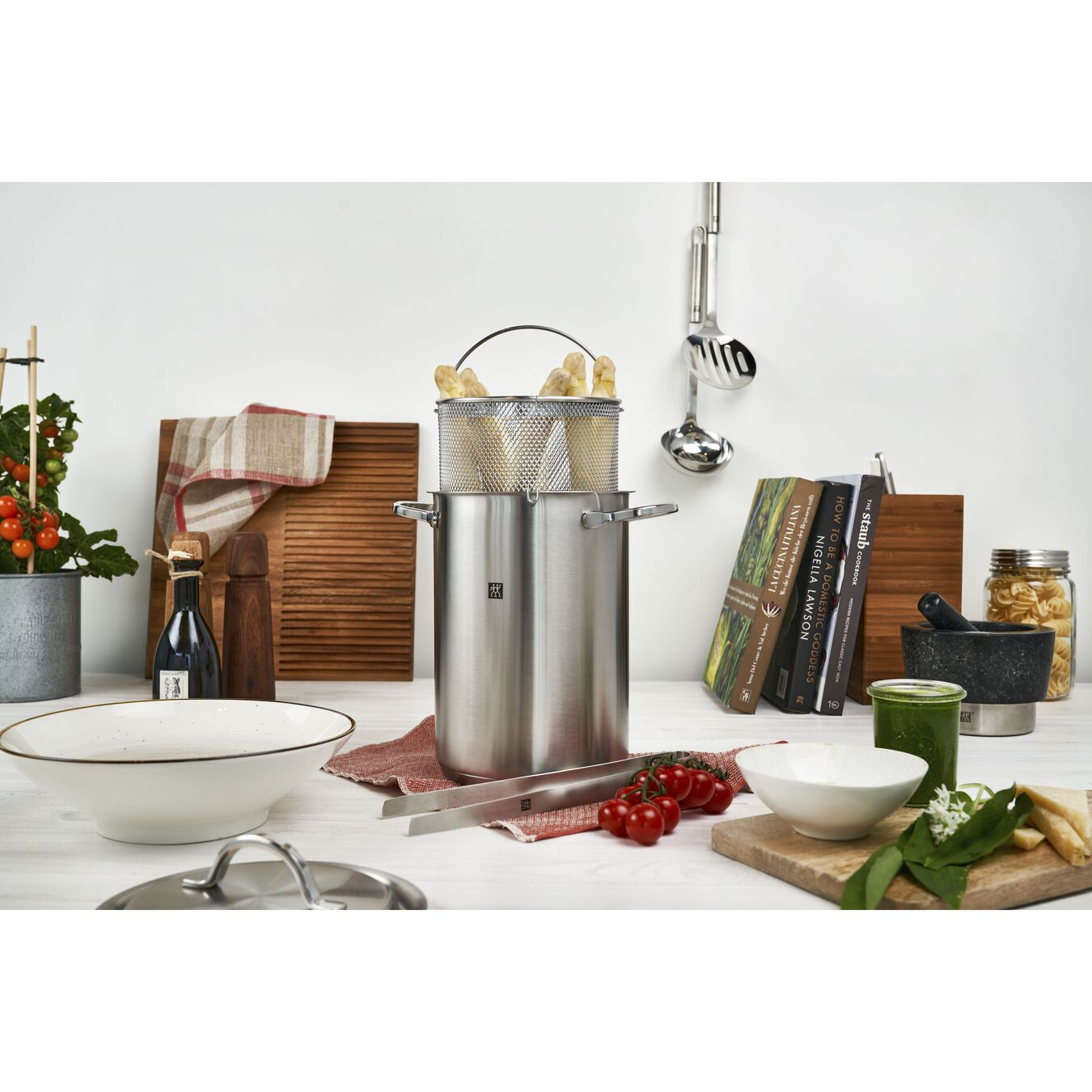 4.5 l 18/10 Stainless Steel Asparagus/Pastapot,,large 3
