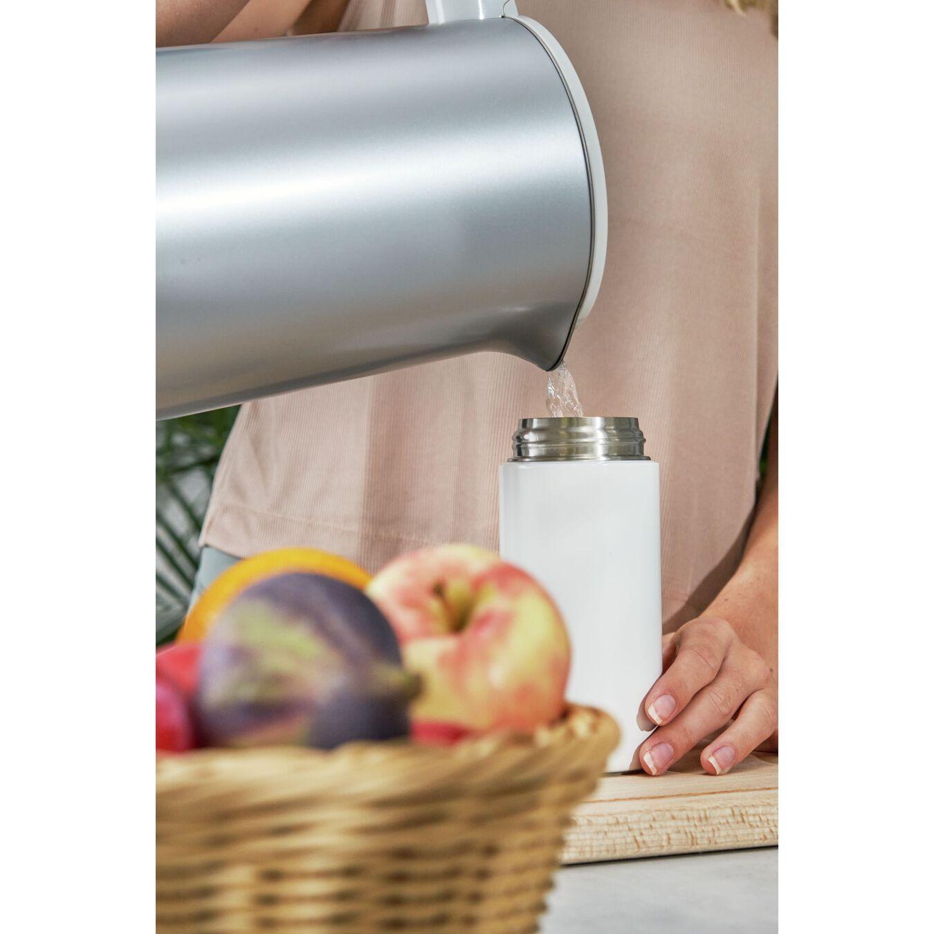Thermos - 420 ml, acciaio inox, bianco,,large 8