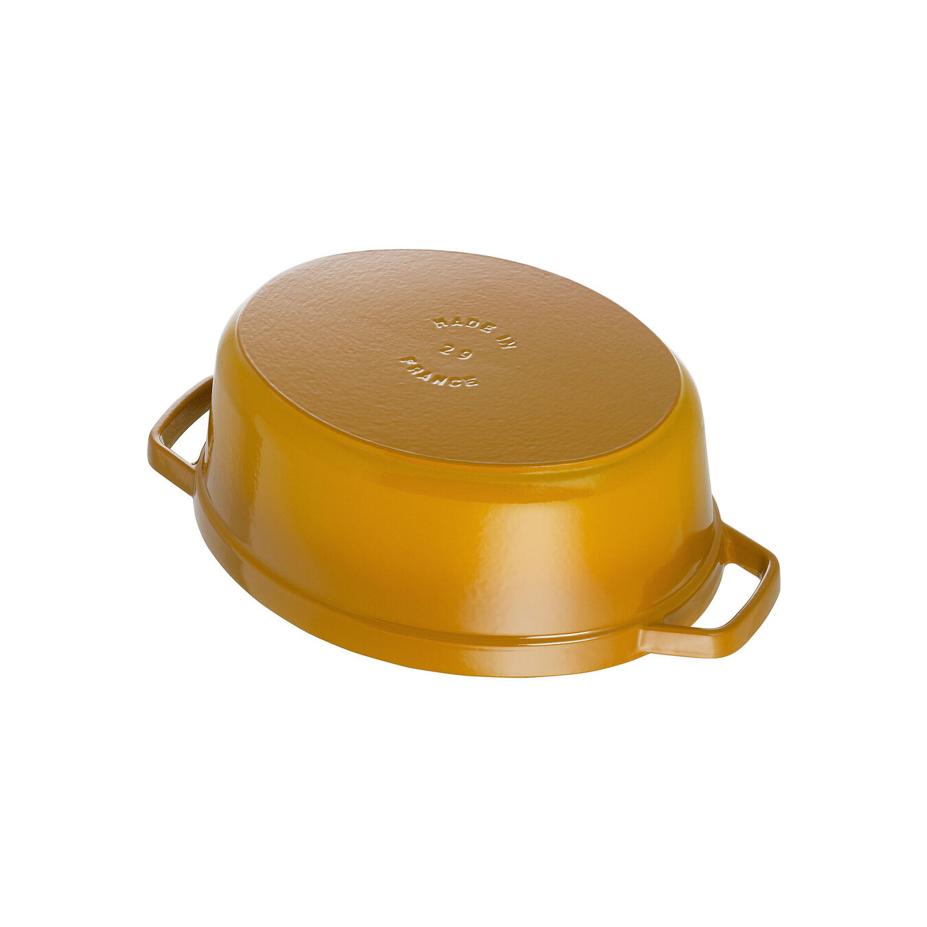 5.5 l Cast iron oval Cocotte, Mustard,,large 4