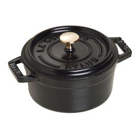 Staub La Cocotte, 250 ml Cast iron round Mini Cocotte, Black