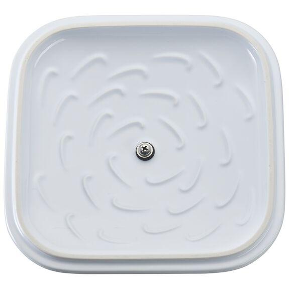 "9"" x 9"" Square Covered Baking Dish, White, , large 5"