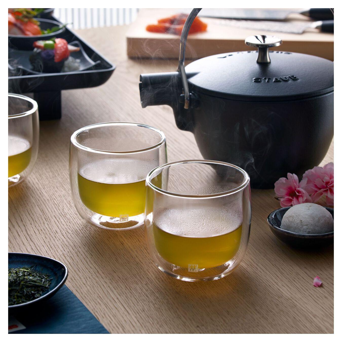 Service de verres à thé à double paroi, 2-pces,,large 4