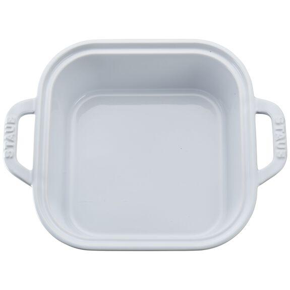"9"" x 9"" Square Covered Baking Dish, White, , large 2"