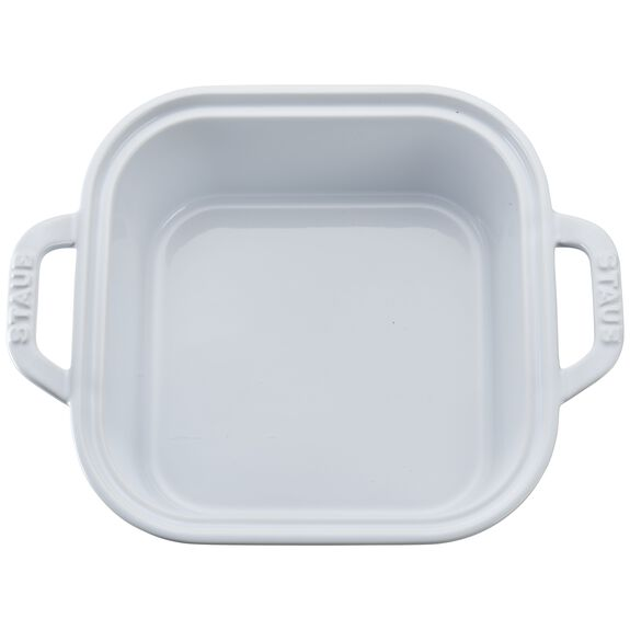 "9"" x 9"" Square Covered Baking Dish, White, , large 2"