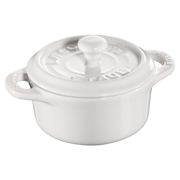 3-pc Mini Round Cocotte Set - White,,large