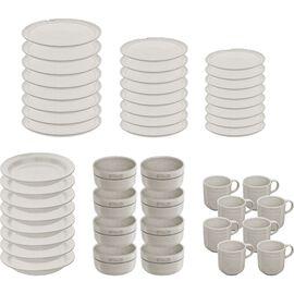 Staub Dining Line, Serving set, 45 Piece | White Truffle | Ceramic | Ceramic