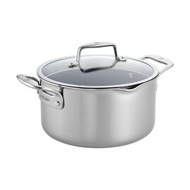 ZWILLING Clad CFX, 6-qt Stainless Steel Ceramic Nonstick Dutch Oven