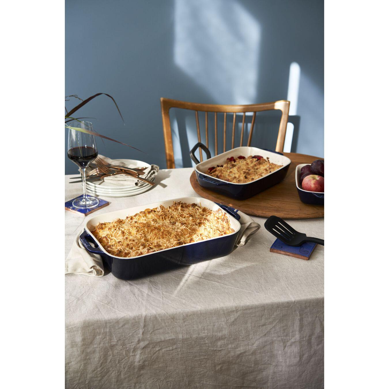 9-inch, rectangular, Baking Dish, dark blue,,large 4