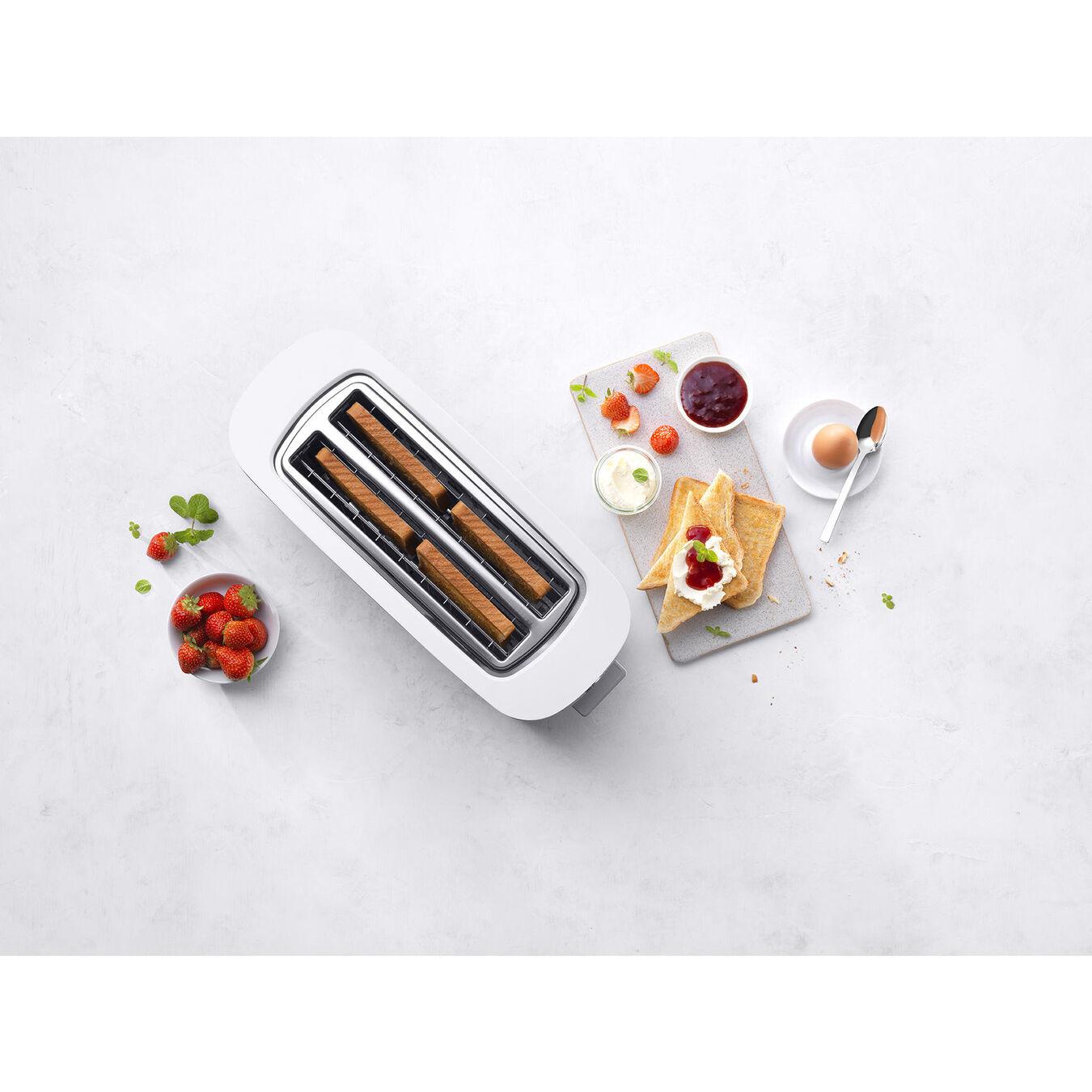 Grille pain Grille permettant de réchauffer des petits-pains, 2 long slots, Argent,,large 4