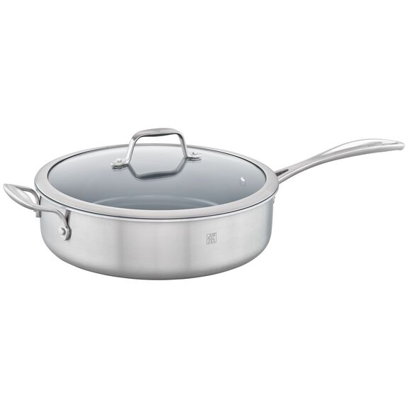 3-ply 5-qt Stainless Steel Ceramic Nonstick Saute Pan,,large
