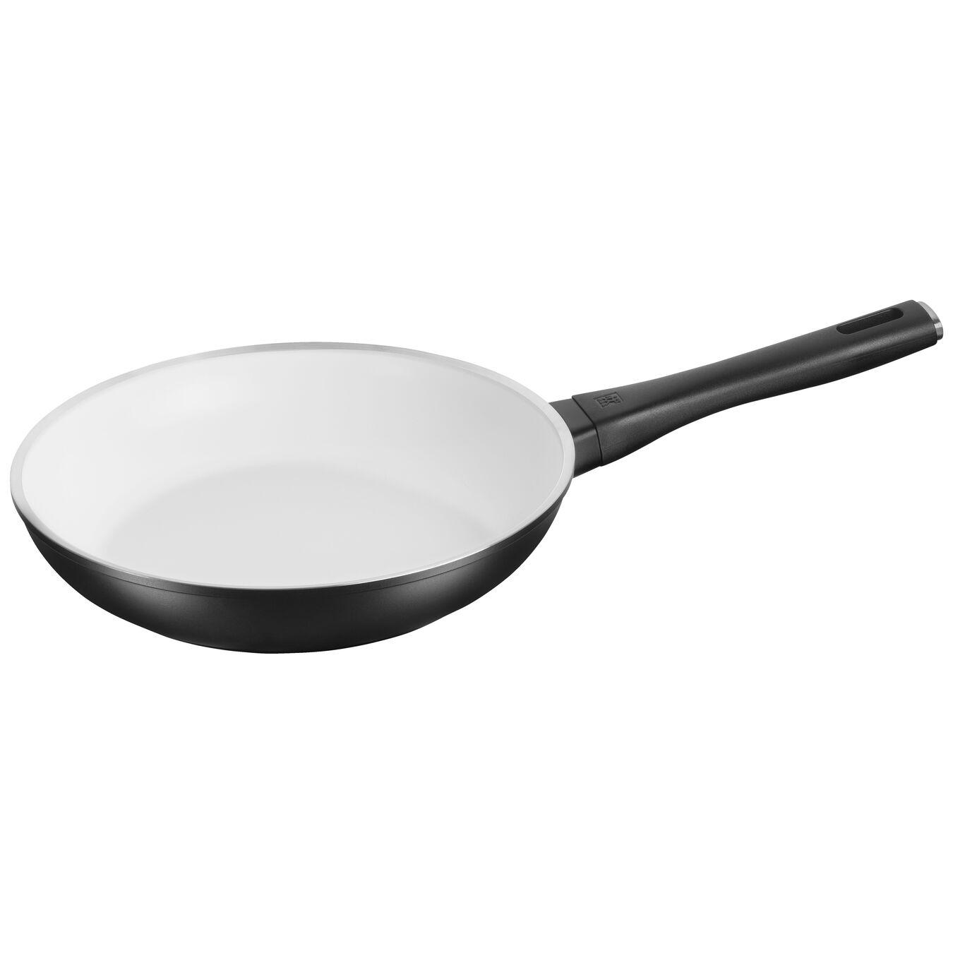 Poêle 26 cm, Aluminium, Noir et blanc,,large 1