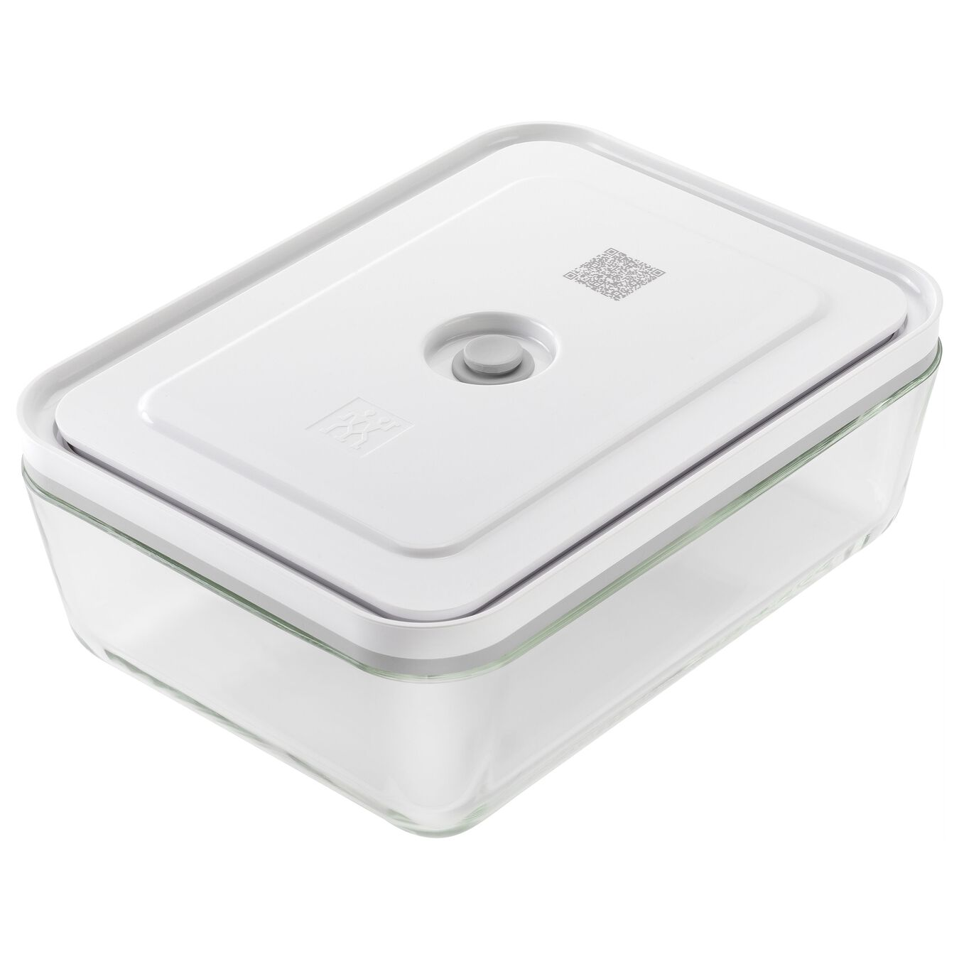 Vacuum Fridge Container, borosilicate glass, white,,large 1