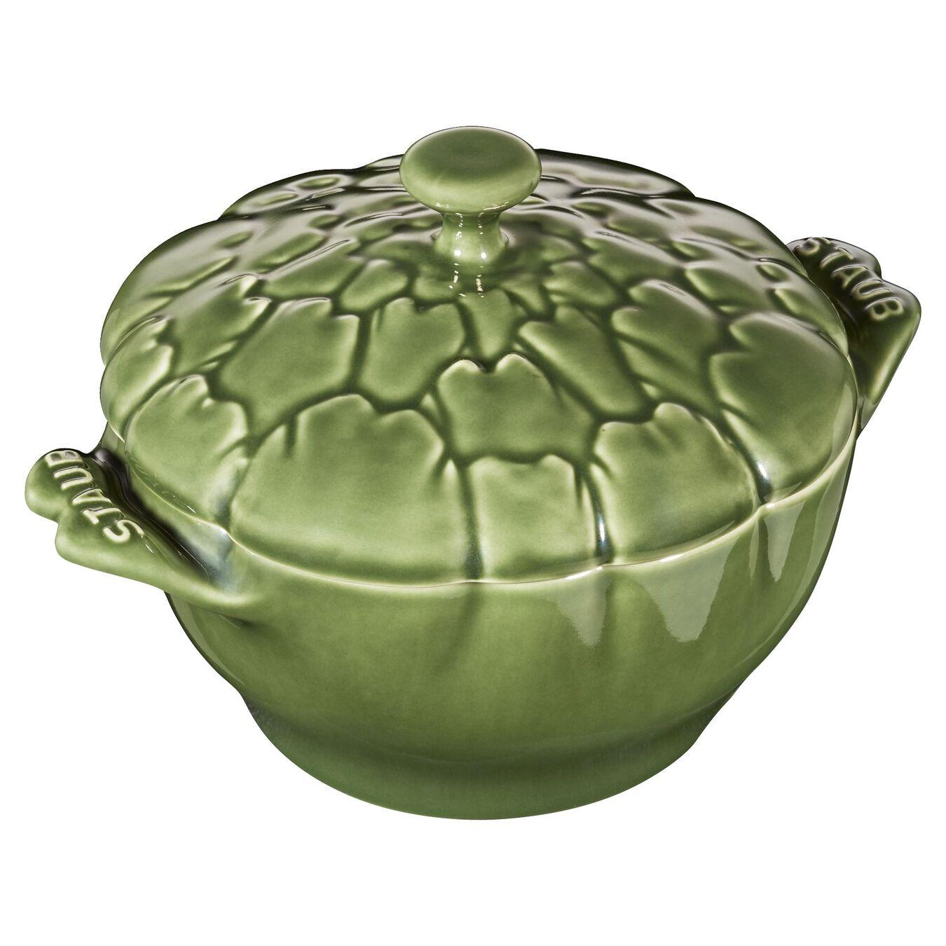 Cocotte 13 cm, Artischocke, Basilikum-Grün, Keramik,,large 9