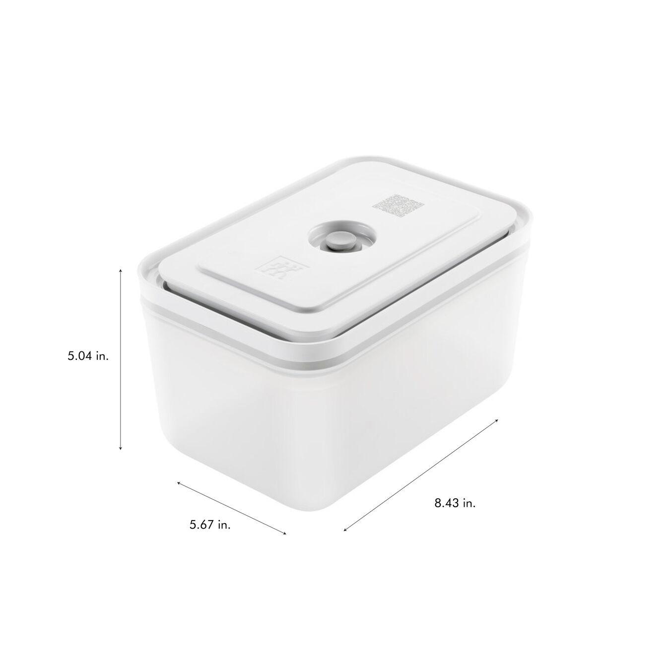 Vacuum Container Set, small/medium/large / 3-pc, Plastic, White,,large 11