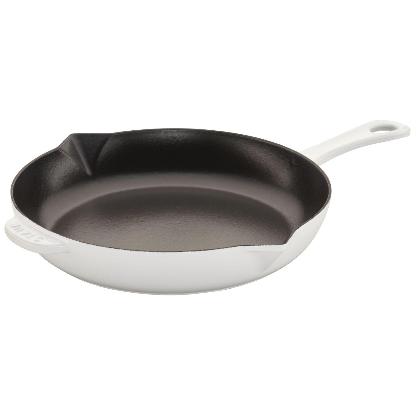 10-inch, Frying pan, white,,large 5