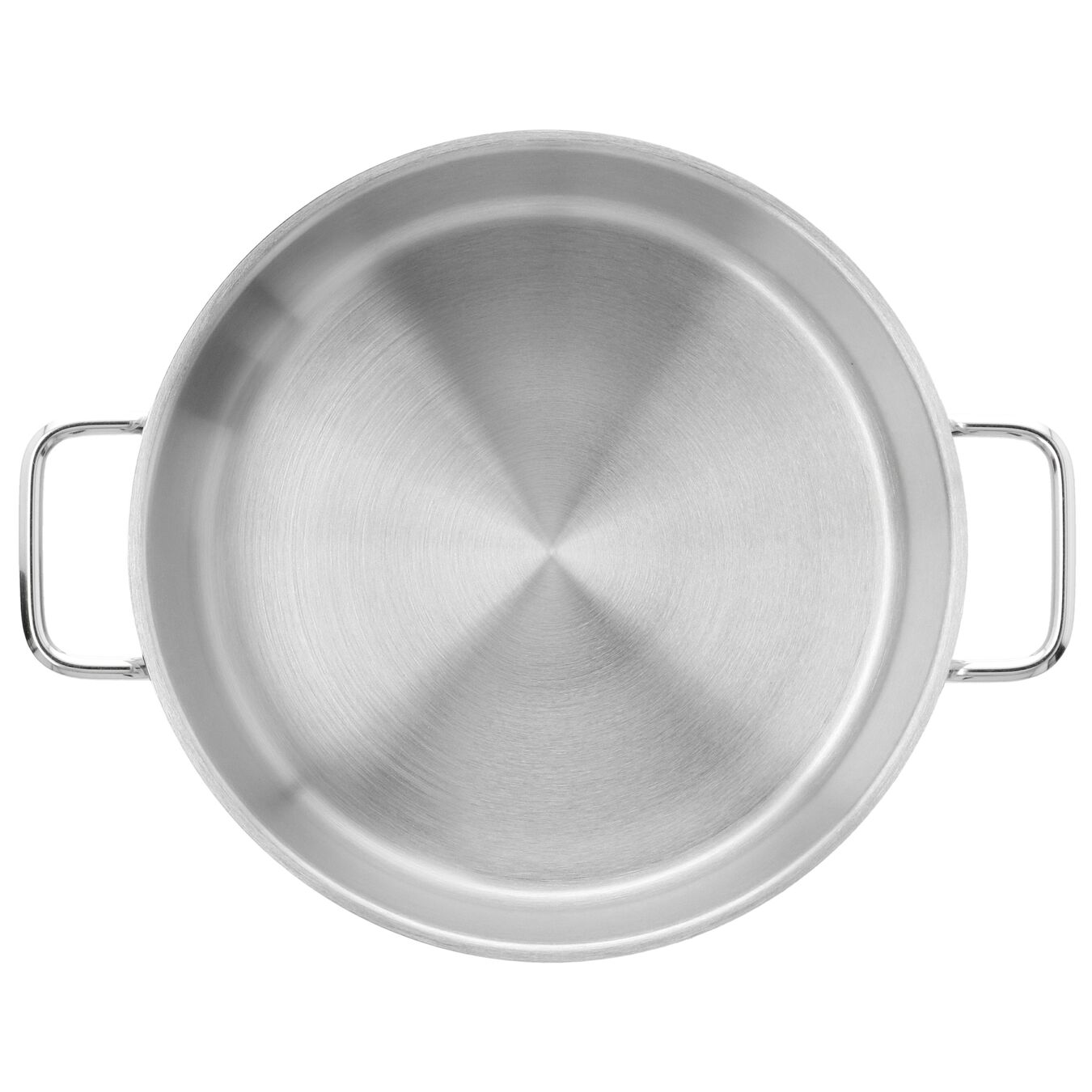Sığ Tencere Kapaksız | 18/10 Paslanmaz Çelik | 24 cm | Metalik Gri,,large 2