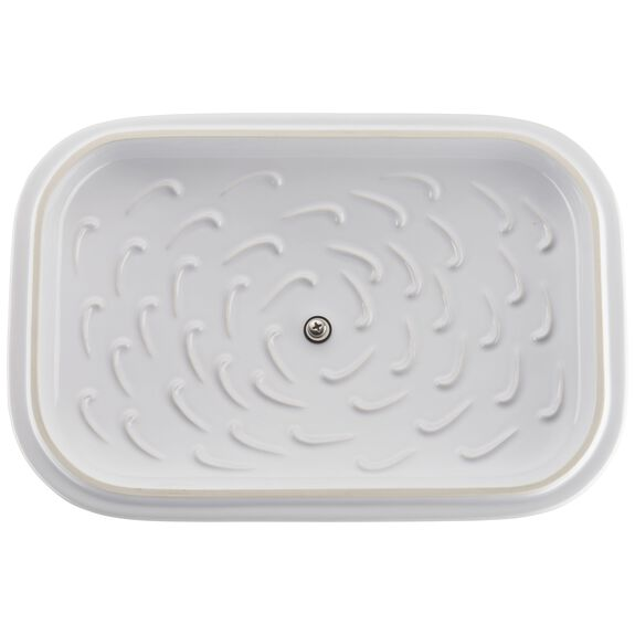 12-inch x 8-inch Rectangular Covered Baking Dish - White,,large 3