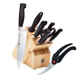 ZWILLING **** Four Star, 8 Piece KNIFE SET WITH BONUS POULTRY SHEARS