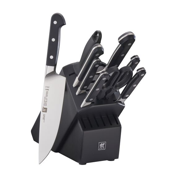 10-pc Knife Block Set, Black, , large