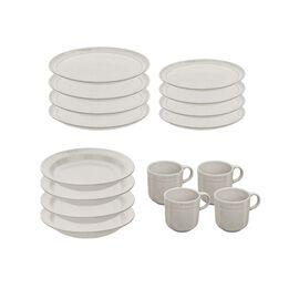 Staub Dining Line, Serving set, 16 Piece | White Truffle | Ceramic | Ceramic