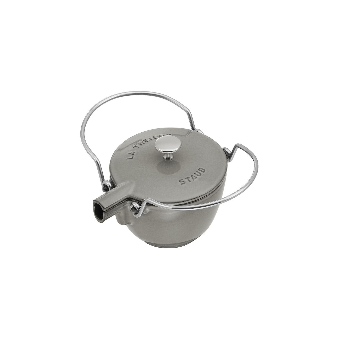 1.25 l Cast iron Tea pot, Graphite-Grey,,large 2