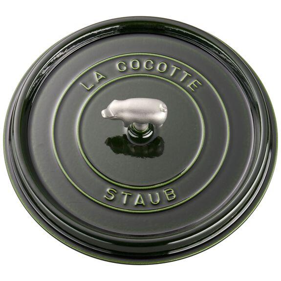 6-qt Cochon Shallow Wide Round Cocotte - Basil,,large
