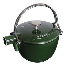 Staub Cast Iron, 1-qt Round Tea Kettle - Basil