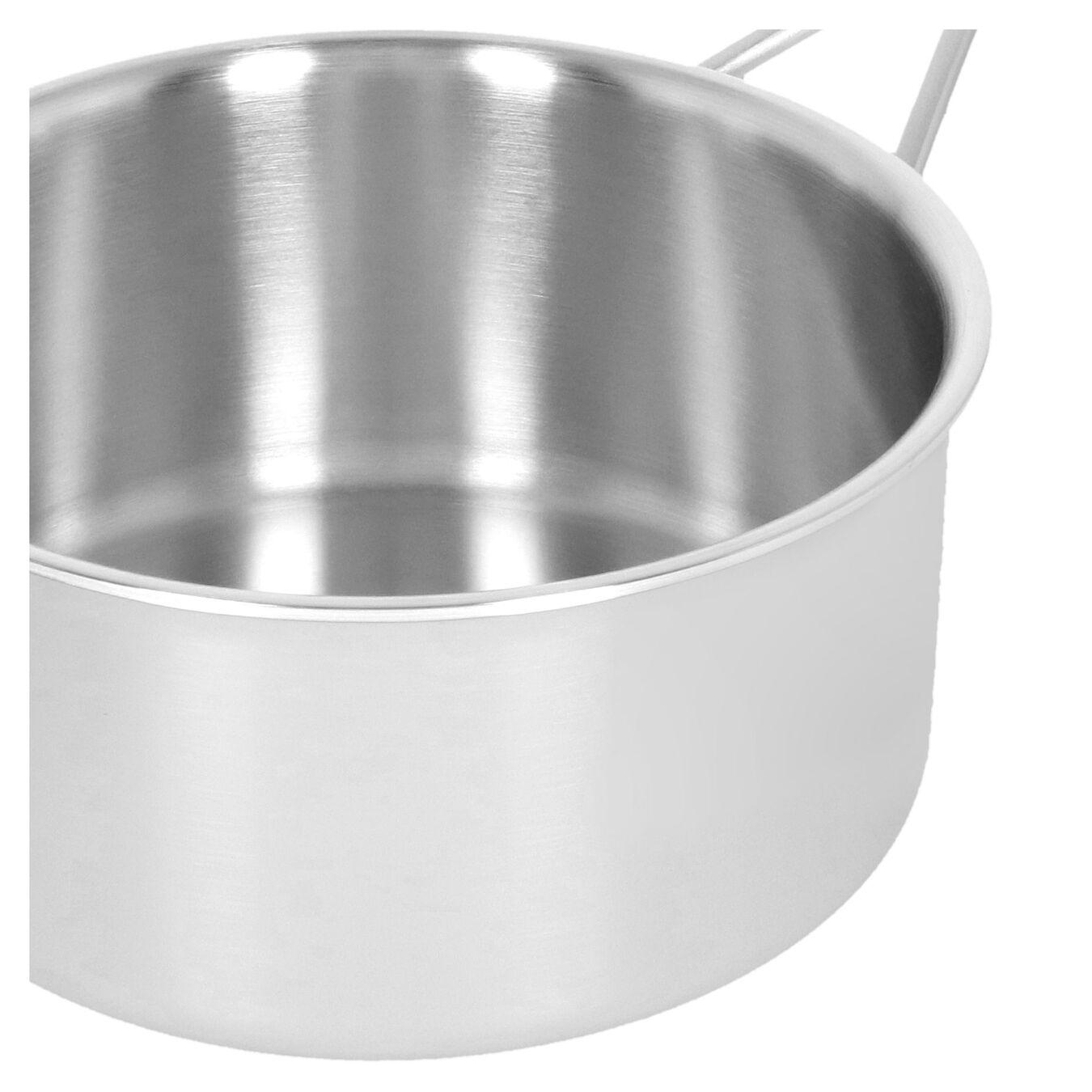 Stieltopf mit Deckel 20 cm, 18/10 Edelstahl, Silber,,large 5