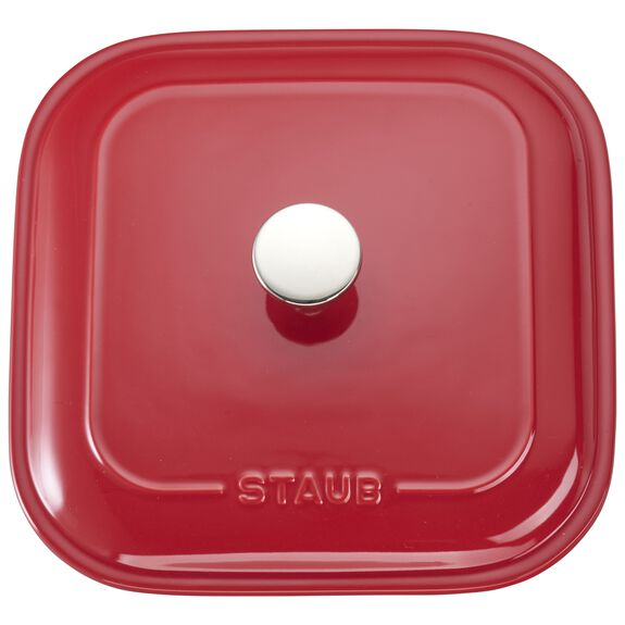 """9"""" x 9"""" Square Covered Baking Dish, Cherry, , large 4"""