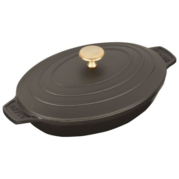 23-cm Cast iron Oven dish with lid,,large 3