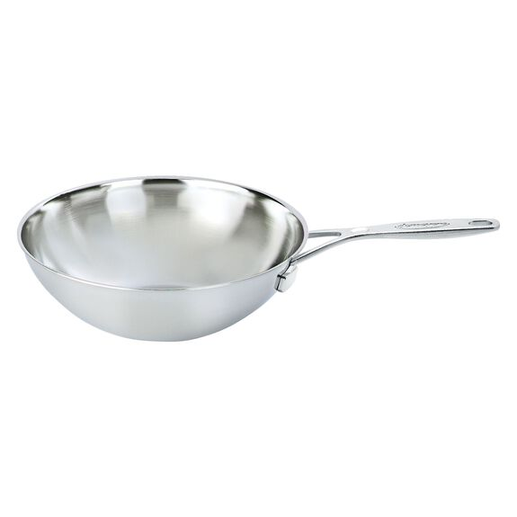 12-inch  Wok without lid, Silver,,large