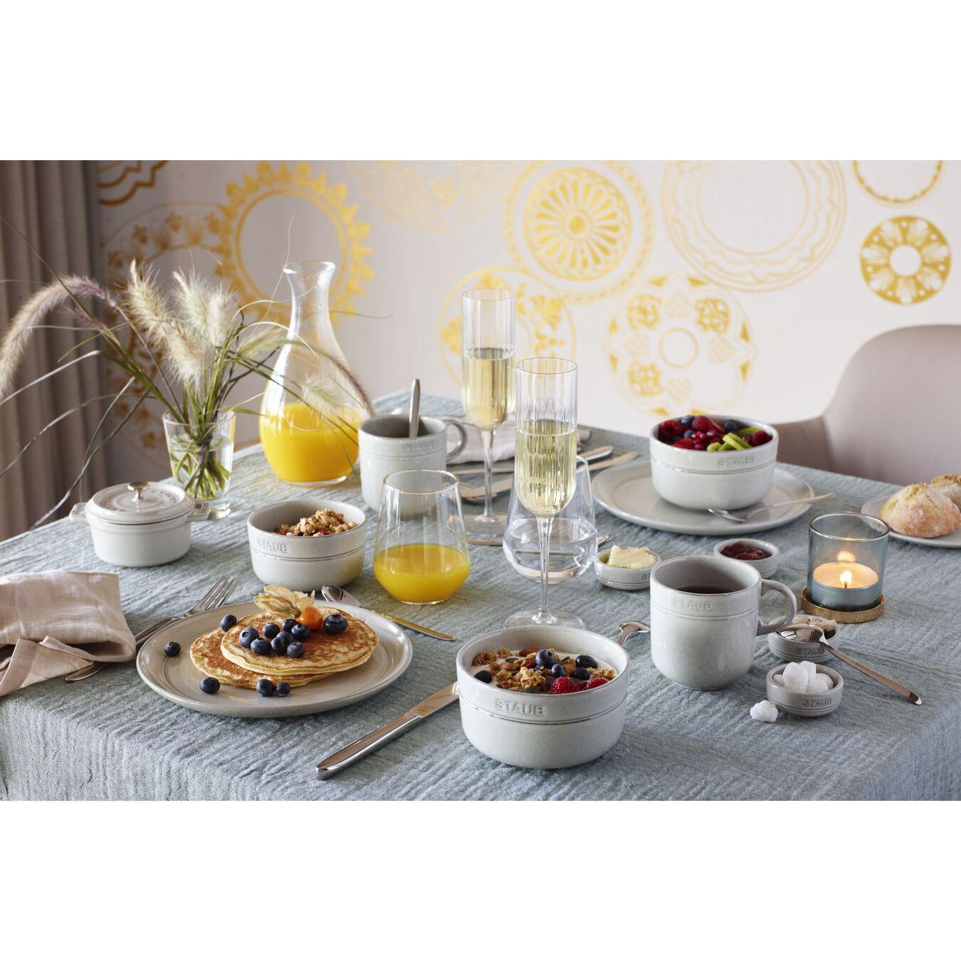 Serving set, 48 Piece | white truffle | ceramic,,large 11