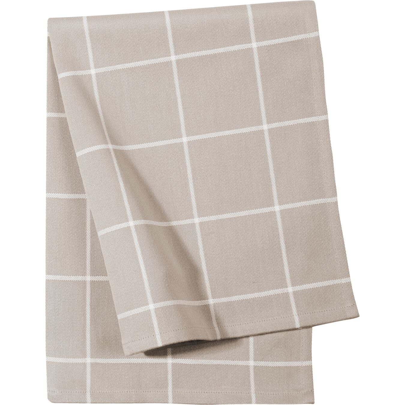 2 Piece Cotton Kitchen towel set checkered, taupe,,large 7