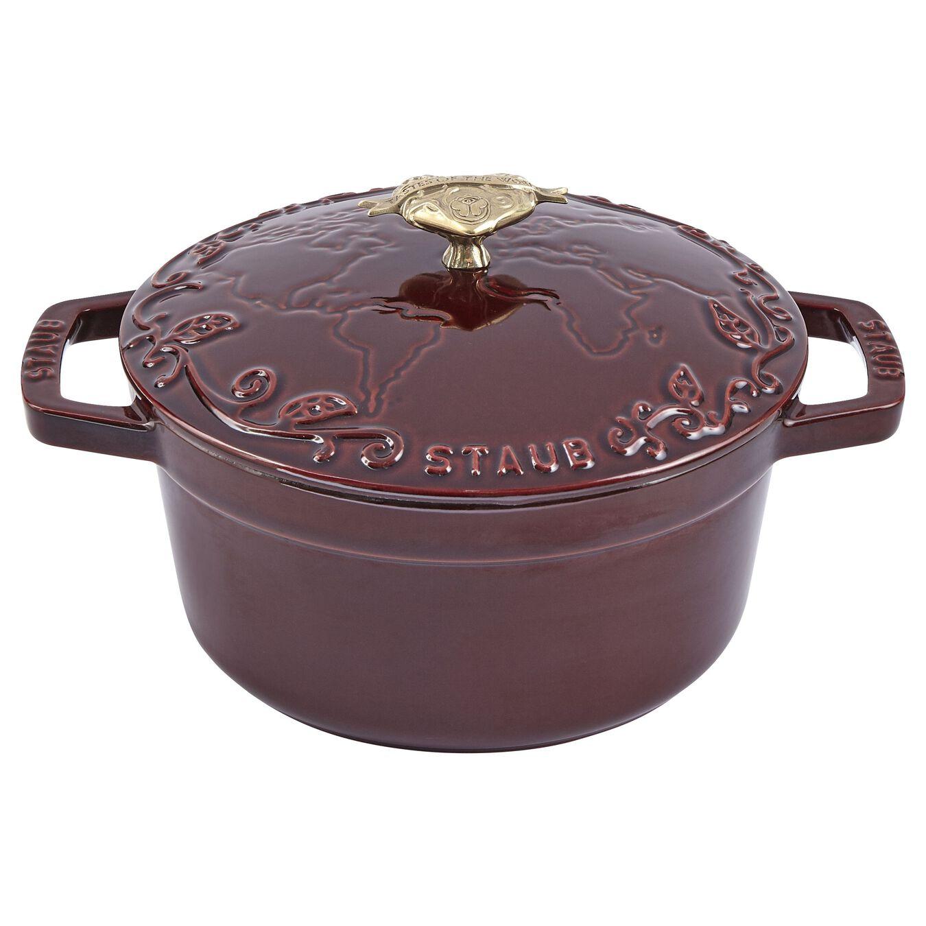 2.25 l Cast iron round Saute pan, Grenadine-Red,,large 8